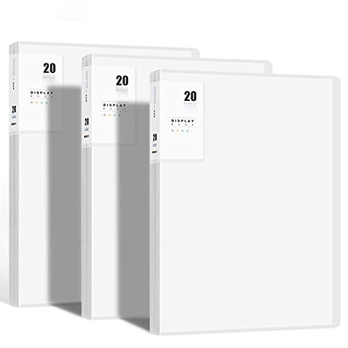 ZZXHV 3 Carpetas de Archivos,encartes Transparentes,folletos de información,Carpetas,Estudiantes de Gran Capacidad,organización de exámenes,Manual de información Multicapa