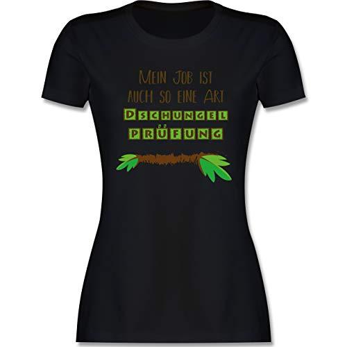 Statement - Mein Job ist auch so eine Art Dschungelprüfung - XL - Schwarz - dschungelcamp kostüm - L191 - Tailliertes Tshirt für Damen und Frauen T-Shirt