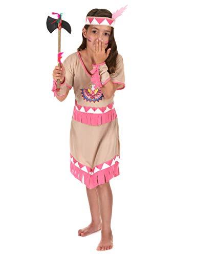 Generique - Disfraz India niña - S 4-6 años (110-120 cm)