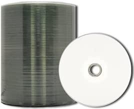 MediaPro Blank CD - Professional Grade White Inkjet Hub Printable CD-R - 100 Pack