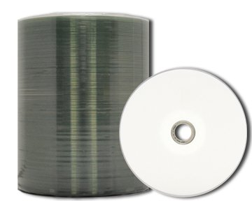 MediaPro Blank CD - Professional Grade White Inkjet Hub Printable CD-R - 100 Pack