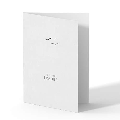 (10 x) Trauerkarten Einladung Trauerfeier Beileid Karten Trauer Danksagung Bestattung