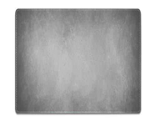Silent Monsters Mauspad Größe S (240 x 200 mm) Stoff Mousepad Design: grau, Vernähter Rand, geeignet für Büro und Gaming Maus