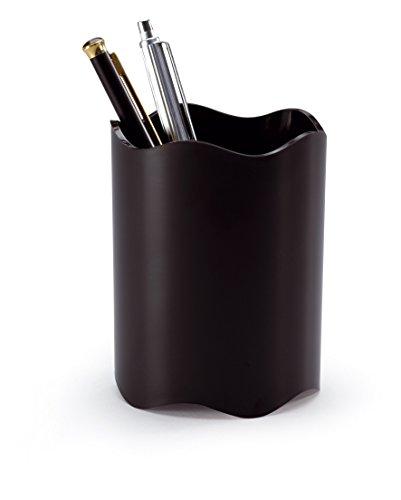 Durable 1701235060 Porta Penne Trend, Ottimale per Penne, Forbici, Diametro 80 mm, Altezza 102 mm, Nero