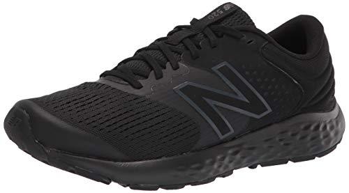 New Balance Men's 520 V7 Running Shoe, Black/Silver, 9.5