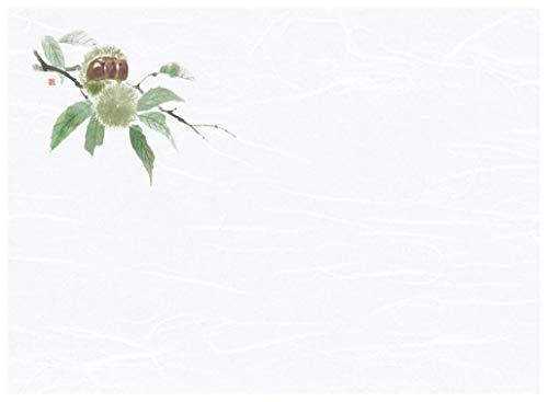 懐石まっと 尺3 花彩(はなさい) 100枚入 栗 (8月〜10月) [ 約26.4 x 39cm ] 【 懐石マット 】 | 旅館 料亭 ホテル 宴会 懐石 和食 イベント 業務用