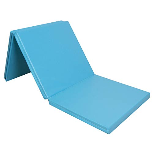 CCLIFE 180x60x5cm Klappbare Weichbodenmatte Turnmatte für Zuhause Fitnessmatte Gymnastikmatte rutschfeste Sportmatte Spielmatte, Farbe:Hellblau