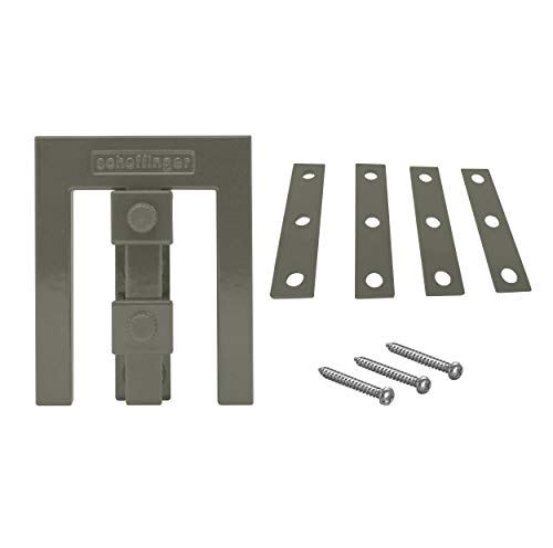 Scheffinger EM3_ raambeveiliging voor ramen of deuren van kunststof/hout/aluminium Eenvoudig grijs