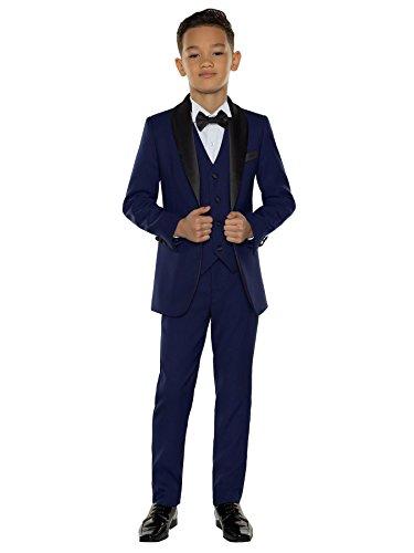 Paisley of London - traje de esmoquin para niños, traje de fiesta para niños, 12-18 meses a 14 años. Azul azul 9 Años