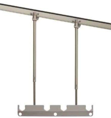 LIXIL(リクシル) テラス用吊り下げ物干しA K-A112-PTJZ シャイングレー標準本体544mm 標準長さ 調整範囲 H=500mmから900mm 1セット2本入り  耐荷重50kg仕様。