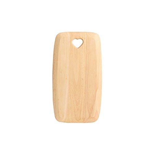 T&G Woodware, T&G, Tagliere rettanfolare con vuore Intagliato, 275 x 150 x 15 mm, Marrone (Braun)