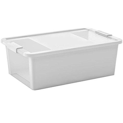 Kiss Kis Aufbewahrungsbox Bi Box 26 Liter in weiß-transparent, Plastik, 55x35x19 cm