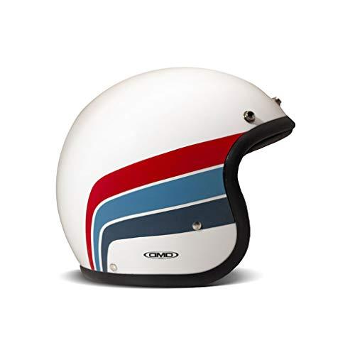DMD Vintage Artemis weiß blau rot Open Face Helm Jethelm Motorradhelm, M