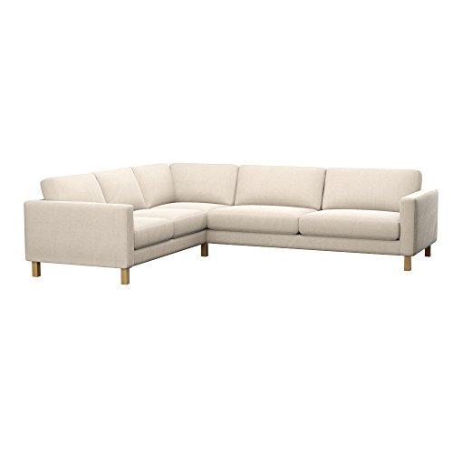 Soferia - IKEA KARLSTAD Funda para sofá Esquina 2+3/3+2, Elegance Creme