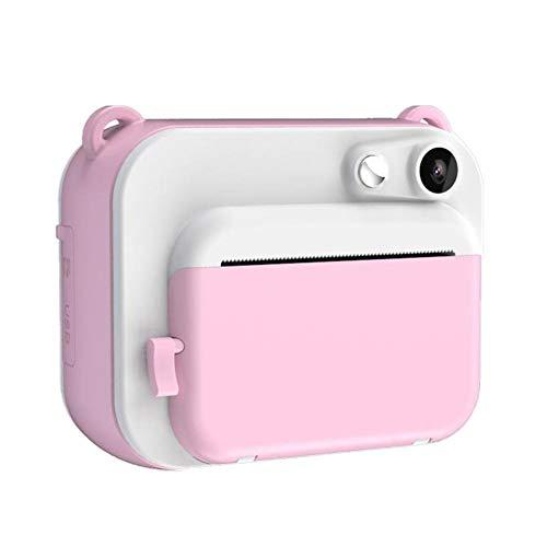 QqHAO 2 Zoll DIY Instant-Digital-Minikamera Kind Kamera automatisch druckt Schwarzweiß-Fotos für Kinder, Rosa
