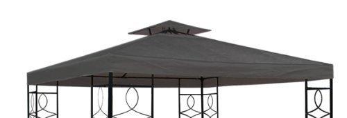 Spetebo Pavillon Ersatzdach mit PVC Beschichtung (wasserdicht) - 3x3 Meter - 270 gr/m² Polyester (Anthrazit)
