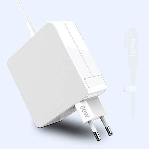 Cargador Mac Book Pro L-Tip 60W Adaptador para Mac Book Pro/Air Charge Compatible con Mac Book Pro 11'y 13' Pulgadas Antes de 2012 Mid (2009 2010 2011 2012Mid), Funciona con 45W / 60W