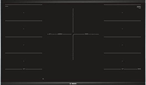 Bosch PXV975DV1E Serie 8 Induktionskochfeld (autark) / 90 cm / Schwarz / Flächenbündig / DirectSelect Premium / 17 Leistungsstufen / PowerBoost / FlexInduktions-Zone / PerfectFry Bratsensor