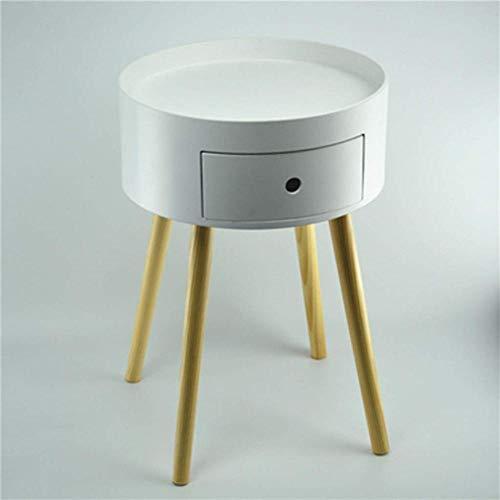 Kutera nachtkastje moderne minimalistische ronde kinderkamer industriële wind Scandinavische enkele pompen kleine nachtkastje Economy zijkast Kleur: wit
