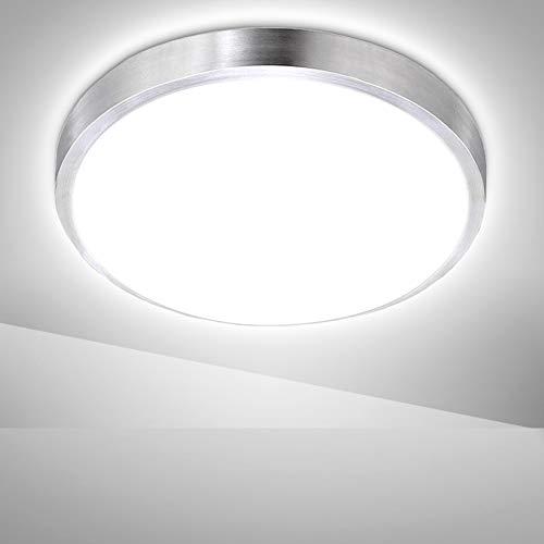 Hengda LED Deckenleuchte Deckenlampe Bad 15W IP44 Weiß 1350LM Rund Wohnzimmerlampe Innen Modern Lampe für Badezimmer, Flur, Küche, Balkon, Schlafzimmer