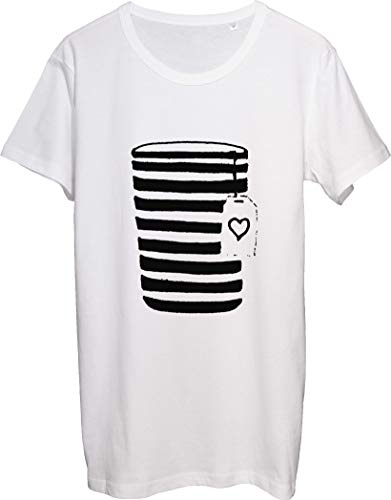 Minimal Coffee Take Out Cup with Illustration Coffee On The Go - Camiseta para hombre