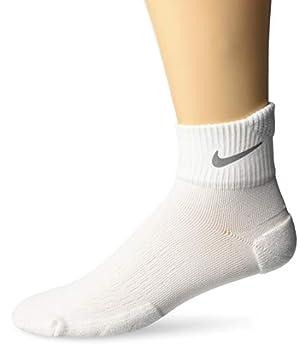 NIKE Spark Cushion Ankle Socks White/Reflective Size 10
