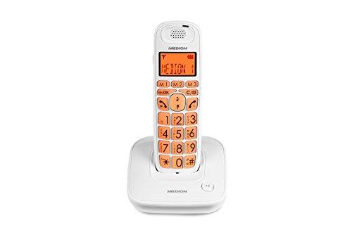 Medion Life E63197 schurloses Großtasten Telefon Senioren (schwarz)