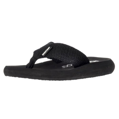 Rocket Dog Women's Sunset Flip Flops, Black, 5 Big Kid