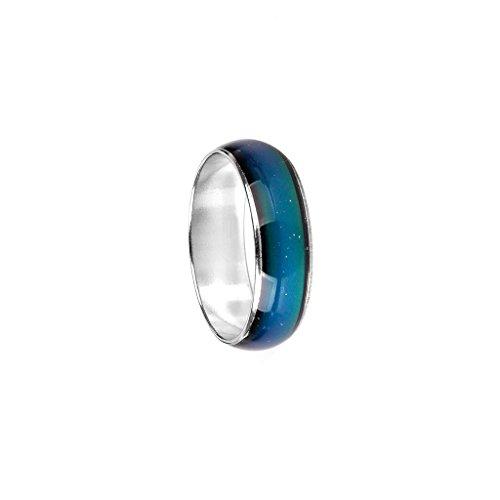Hellery Kinder Erwachsene Temperatur Emotion Gefühl Stimmung Ring Band Schmuck Geschenk Größe 5 7 - Größe 7,5 17,8 mm