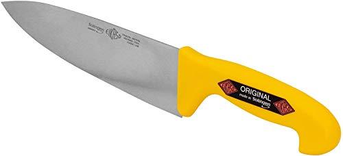 Solingen Eikaso Premium Kochmesser Schlachtmesser mit rutschfestem Griff für Profi Fleischer und Hobby Koch - Metzgermesser - Profimesser mit exzellenter Schärfe - Hochwertige Verarbeitung