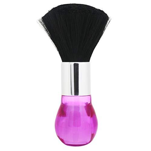FRCOLOR Cepillo de Plumero de Cara de Cuello Cepillo de Peluquería Cepillo de Pelo Cepillo de Barrido de Mesa Suave Herramienta de Peluquería para Peinado con Mango (Color Aleatorio)