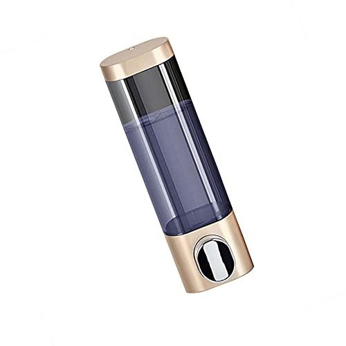TBSHX Dispensador jabon baño, dispensador de jabon baño dispensador de jabon 300 ML Dosificador de Jabón para Pared de Ducha o Baño, (Color : Gold)