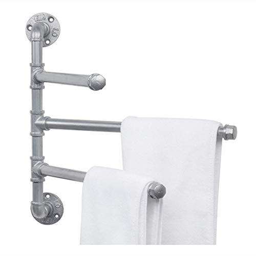 J Estante para Toallas de baño, toallero Giratorio de Tres Capas para baño Retro Americano, Almacenamiento de múltiples Capas, toallero Giratorio, Adecuado para toalleros de baño
