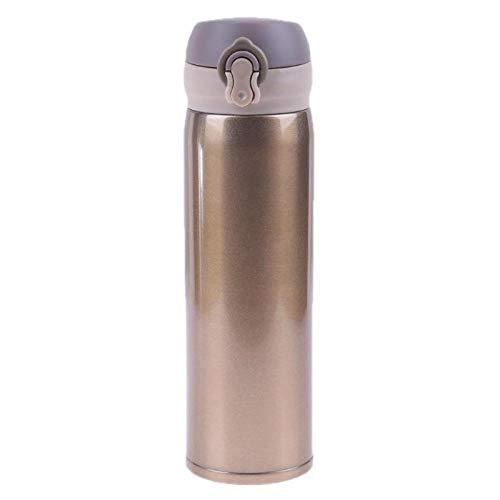 450ml gesp thermische beker 304 roestvrij staal dubbelwandige geïsoleerde beker mok reizen koffie drinkfles thermos beker water beker-goud