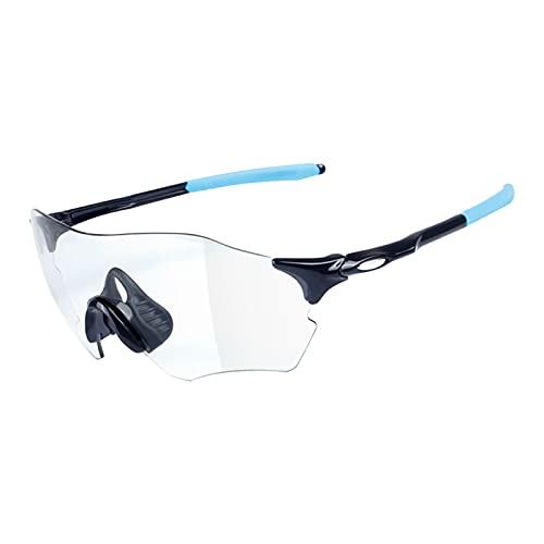 JLJLJL Gafas de Ciclismo Gafas de Sol fotocrómicas para Hombres, Gafas de Sol de Ciclismo Gafas de Bicicletas de Deportes Gafas UV 400 Protección Ciclismo Conducción Correr C2