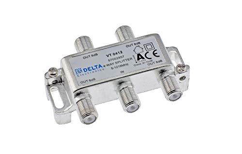 DCT-Delta, F-Verteiler 4-Fach 5-1218 MHz, TV-Verteiler, BK-Verteiler, DVB-C, Kabelfernsehen, Splitter, Class A + 10dB …