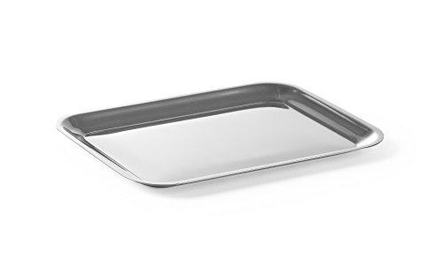 HENDI Servierplatte, Catering, Sandwichplatte, geeignet für Geschirrspüler, 205x155mm, Edelstahl 18/0