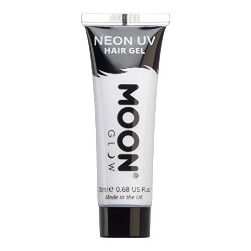 Moon Glow – Gel fluo UV pour les cheveux. 20 ml Blanc - Coloration Cheveux Temporaire dye, Crème Colorant De Cheveux - Pour des crêtes fluorescentes !