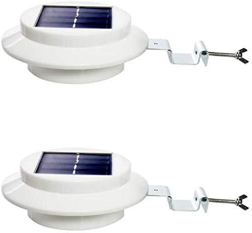 2er-Set Garten-Solarleuchten für Zaun...