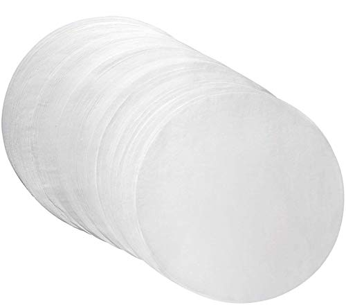 Parchment Paper Baking Circles 8 Inch Diameter, Baking Paper Liners for Baking Cakes, Cooking, Dutch Oven, Air Fryer, Cheesecakes, Tortilla Press (200 PCS)