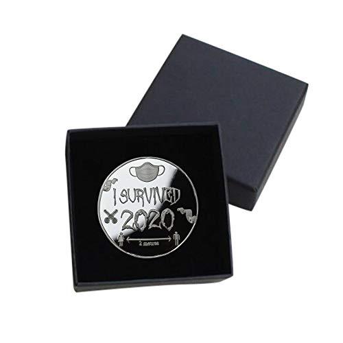 PcLeam SammlermüNzen 2020 ÜBerlebende GedenkmüNzen Doppelseitige Coin MüNze Kunstsammlung Physikalisch Sammeln Geschenk Gedenkausgabe MüNzsammlung Gedenkartikel Sammlerfiguren(A2-1pc)