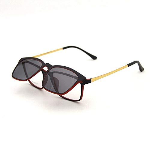 LITT zonnebril magneet bril volledige rand optische frame recept Spectacle vintage mannen bijziendheid ogen bril zonnebril Anti Glare/Uv