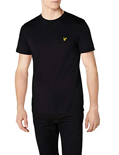 Lyle & Scott Herren Crew Neck T-Shirt, Schwarz (True Black 572), Large