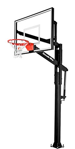Goalrilla FT54 Basketball Hoop with Tempered Glass Backboard, Black...