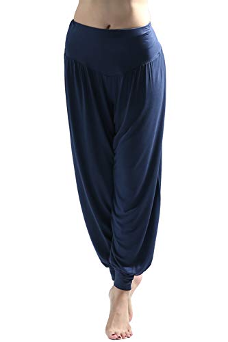 Wtiea Yogahose Damen Haremshose Weiche Jogginghose Elastisch Lange Hose