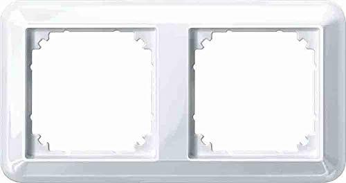 Merten 388219 Atelier-M-Rahmen, 2fach, polarweiß glänzend