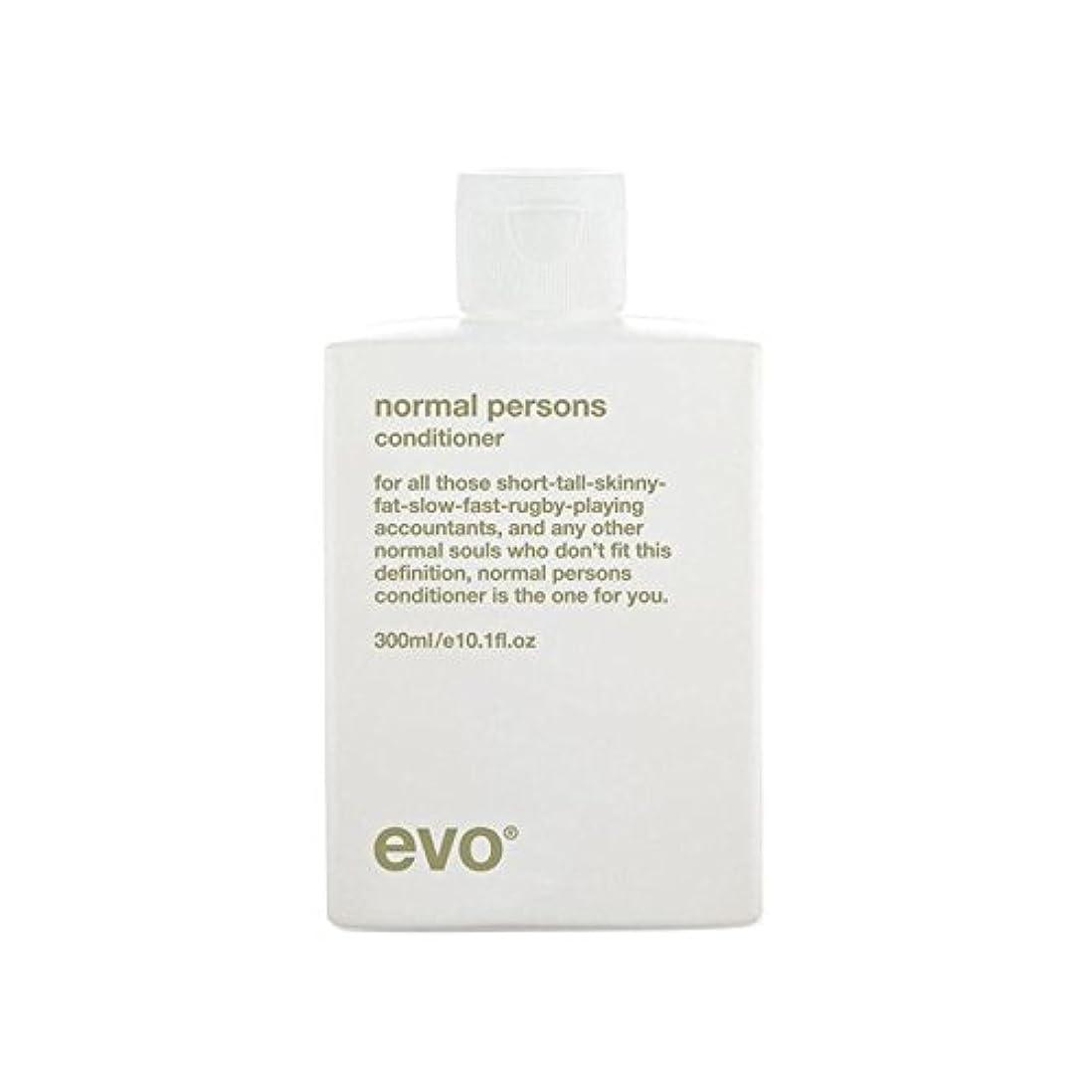 肘しないでください石エボ正常人コンディショナー(300ミリリットル) x4 - Evo Normal Persons Conditioner (300ml) (Pack of 4) [並行輸入品]