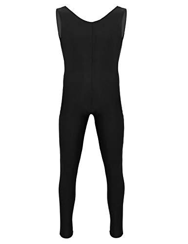 YiZYiF Body da Uomo Tuta Intera Sportiva Bodysuit Aderente da Ballo Leotard per Allenamento Senza Maniche Completo da Ciclismo Estivo Leggings Ginnastica Jumpsuit Sportswear