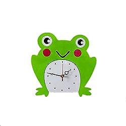 N /A Wall Clock Cartoon Frog Panda Wall Clock Creative Acrylic Mute Children Bedroom Living Wall Clock Home Decor