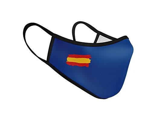 Mascarilla Higiénica de Tela Homologada Reutilizable Bandera de España - Azul